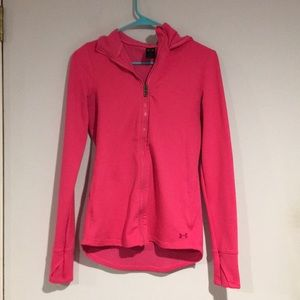 Under Armour Pink zip up hoodie Sz M